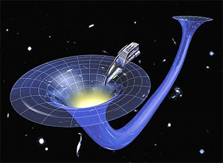 Gambaran dari lubang cacing menurut teori Godel