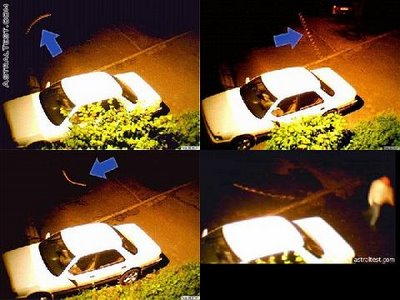 penampakan rod di parkiran mobil
