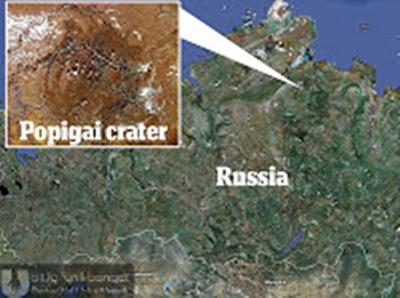 kawah popigai Rusia kawah berlian terbesar