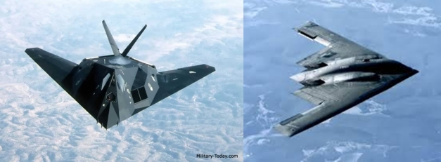 F-117 Nighthawk dan B-2 Spirit