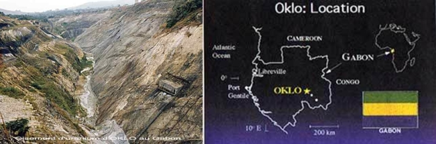 Lokasi reaktor nuklir ramah lingkungan di Oklo, Rep Gabon
