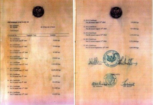 """Arsip-arsip di atas adalah bukti tentang perjanjian """"The Green Hilton Memorial Agreement"""""""