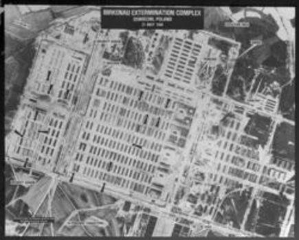 Foto Auschwitz-Birkenau yang diambil pada bulan Mei 1944 oleh sebuah pesawat Angkatan udara Afrika Selatan. Penjelasan foto ini baru terungkap pada akhir 1970-an dan dianalisis oleh CIA pada tahun 1978. Asap dapat terlihat keluar dari Krematorium V, yang menunjukkan bahwa sekelompok tahanan baru saja digas.